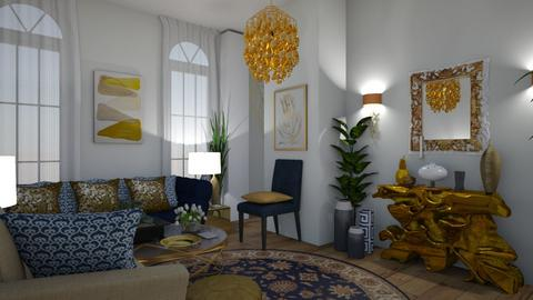 All is Golden - Glamour - Living room  - by Irishrose58
