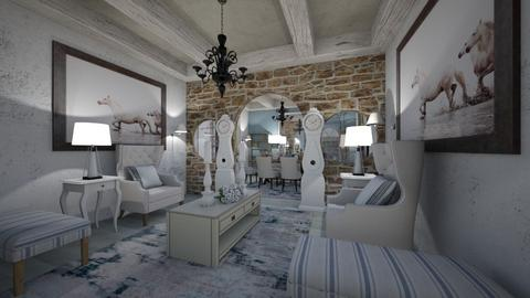 Living_Dinning_Interior - Classic - Living room - by Nikos Tsokos