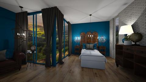 Antique Master Bedroom - Rustic - Bedroom  - by KylaTH