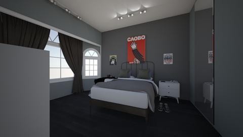 SimpleTeenishPlainBedroom - Minimal - Bedroom  - by jade1111