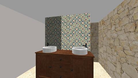 CLEAR FLOOR tile VI - Bathroom  - by irerhino