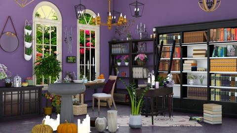 Halloween Purple Witch - Classic - Office  - by M i n h  T a m
