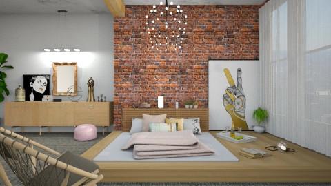 Peace and Love - Modern - Bedroom  - by DeborahArmelin