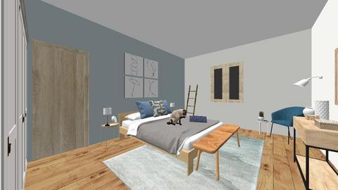 Bedroom Scandinave - Bedroom  - by LauraDruon