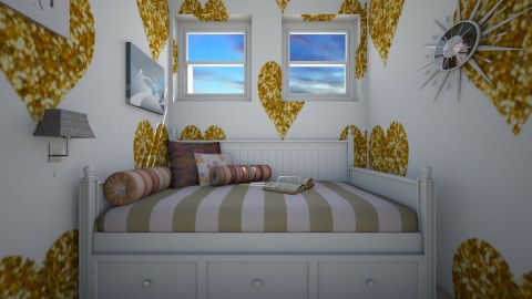 Funky Teenage Bedroom  - Retro - Bedroom  - by Taisha Casimir