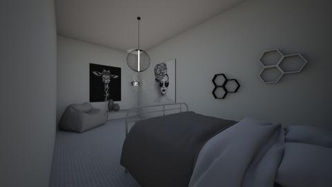 Black and White - Bedroom  - by Two Kittens