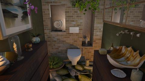 M_ Shell toilet - Bathroom  - by milyca8
