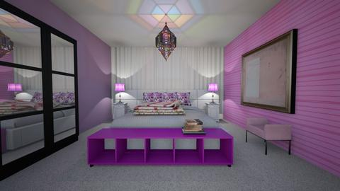 Pink and Purple Bedroom - Bedroom  - by Tupiniquim