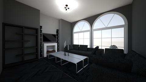 Black Living Room - Living room  - by Kate Home