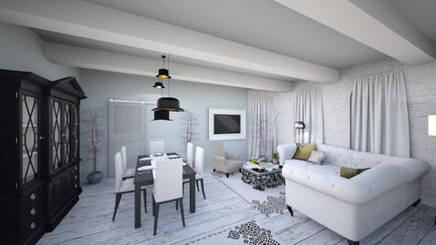 Grey living - Living room - by Dream Interior