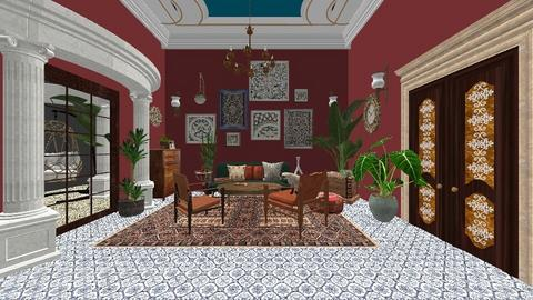 Living in India Colours - Living room  - by lealaurenbagari