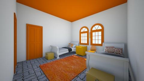 Big Orange - Bedroom - by Wendy Broyles
