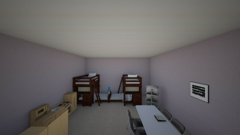 quadruplets bedroom - Glamour - Bedroom  - by deleted_1508269637_clemencevilmay