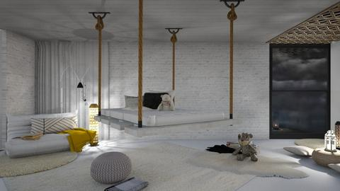 Stormy day bedroom - Minimal - Bedroom  - by its lia