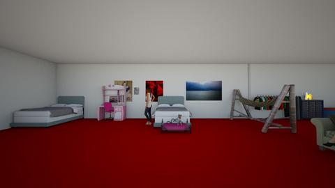twin bed room - Kids room  - by unicornartlover