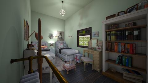 50sVintageTwinRoomPastels - Vintage - Kids room  - by jade1111