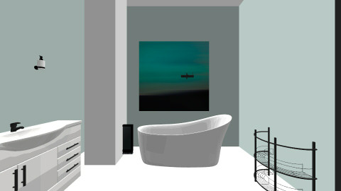 Bathroom Aqua - Retro - Bathroom  - by tbyrn77