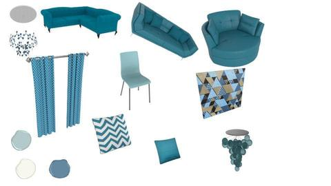 my first moodboard teal  - by NEVERQUITDESIGNIT