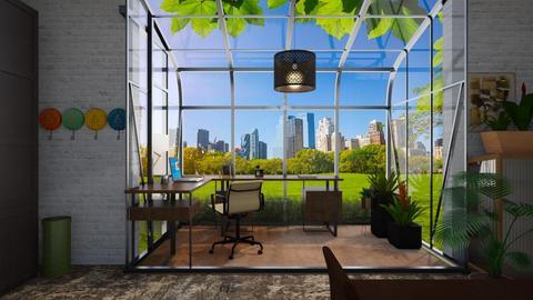 Mod Boho Office - Modern - Garden  - by timeandplace