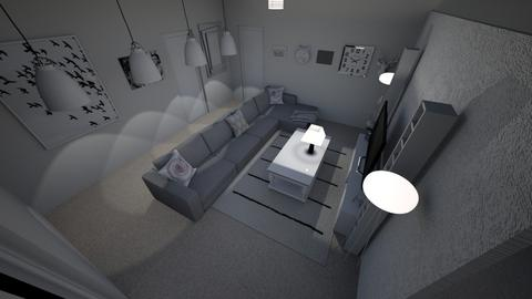 White room - Modern - Living room  - by umcf1d4b12345