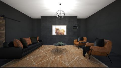 Mid Century Modern - Rustic - Living room  - by Lambogirl