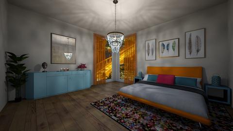 Indian Bedroom - by rojasveronik