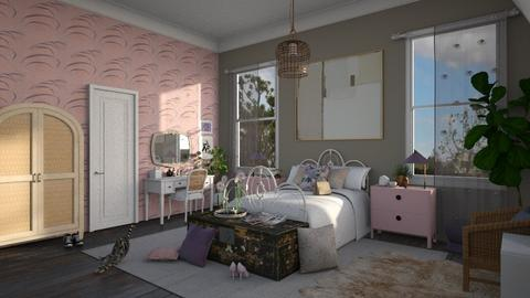 pink purple pretty - Bedroom  - by Brittany Danielle Twilley