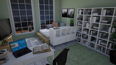 Student Room - Living room  - by Keliann