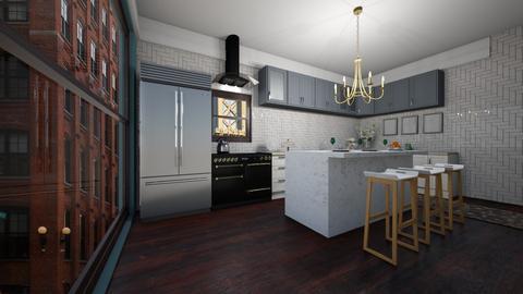 brownstone interior  - Kitchen  - by meredithcrummey