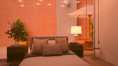 minimalistic bedroom - Bedroom  - by aestheticXdesigns