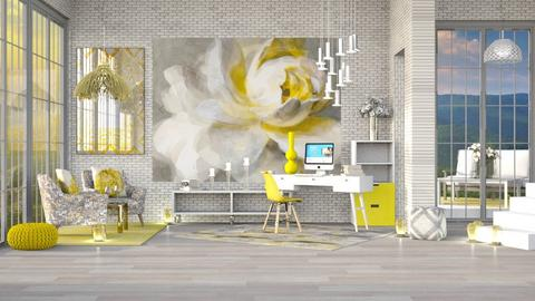 SUNNY WORKSPACE - Modern - Office  - by RS Designs