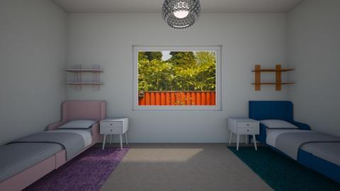 twins bedroom - Kids room - by ckjewell