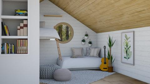 Cozy Attic - Minimal - Bedroom  - by Norbosa