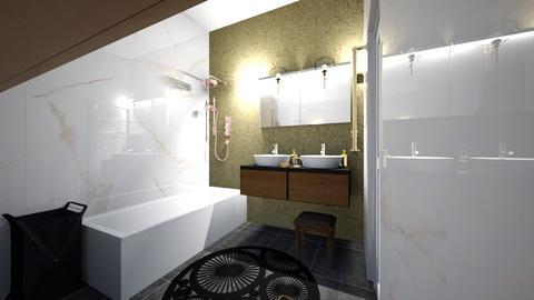 wrzosowa - Bathroom  - by katarzynatadla