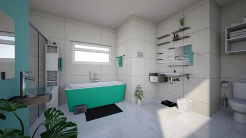 Green and Tan Bathroom - Modern - Bathroom  - by Sophia Cooper