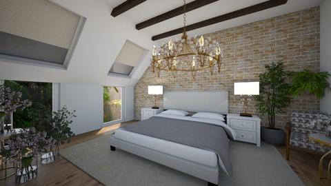 poddasze - Bedroom  - by monek299