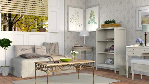 Cozy Living 4 - Vintage - Living room  - by Sally Simpson