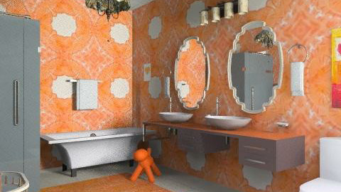 More fire than flame - Modern - Bathroom  - by alleypea