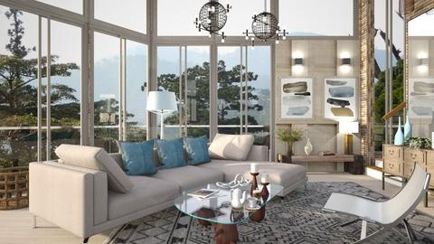 M_Distant mountains - Living room  - by milyca8