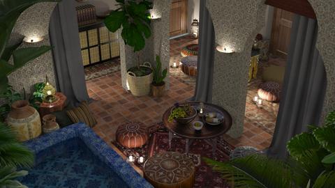 Morrocan Courtyard - Garden  - by finearch