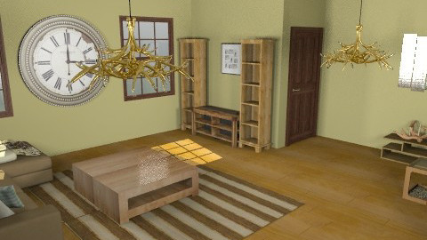 Traditional Rustic Family Room - Retro - Living room  - by lkick