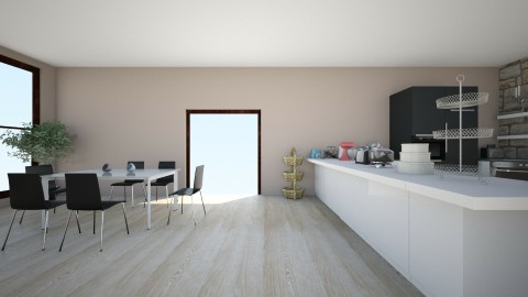 kitchen dining room yo - Minimal - by ethan    and bray