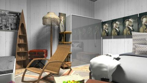 vintage room2 - Vintage - Bedroom  - by krity
