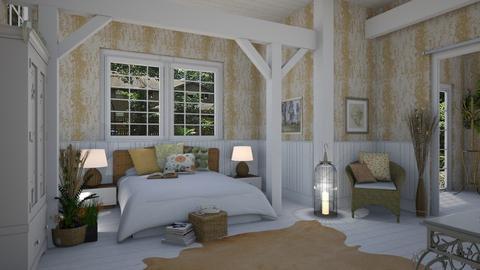 Rustic Tropics - Country - Bedroom  - by Daisy de Arias