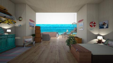 Beachfront Home - Rustic - Bedroom  - by Irishrose58