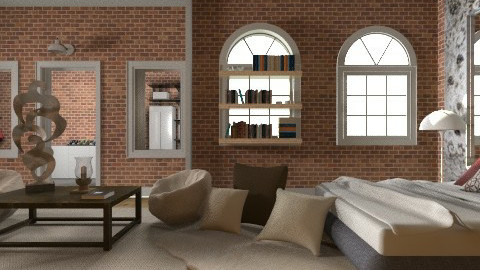 double window test2 - Minimal - Bedroom  - by TammieLynne