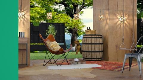 Boho wood porch - by matildabeast