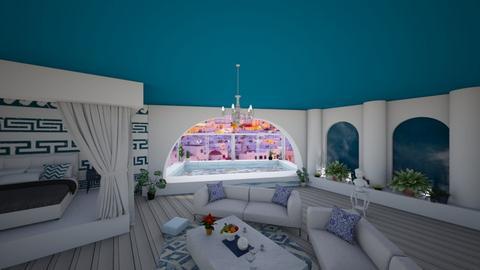 Greek bedroom - Bedroom  - by nikolilelinka