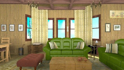 vieja - Rustic - Living room  - by ATELOIV87