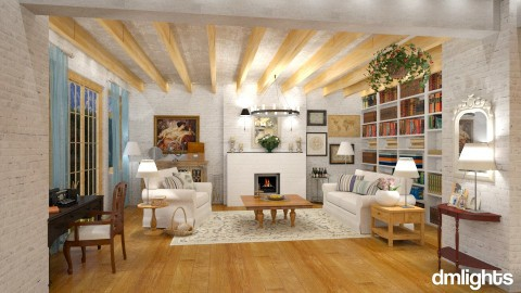 Farmhouse - Living room  - by DMLights-user-997247